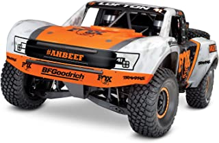 Traxxas Unlimited Desert Racer 4X4 RC Race Truck, White, Orange