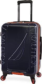حقيبة سبينر صلبة من خشب البتولا من نوتيكا، 53.34 سم، لون أزرق داكن/برتقالي