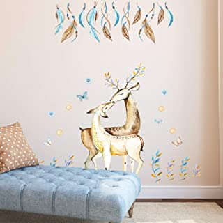 Ampire Wall Stickers Dear Love Art Surrounded by Hedges and Butterflies Decor