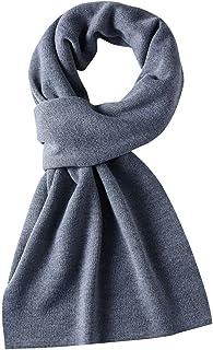マフラー メンズ 秋冬用 ウール混紡 手入れ簡単 クリスマスプレゼント お揃い ブラック ネイビー グレー ブラウン