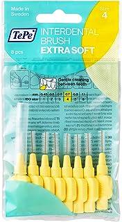 TePe interdentale borstels X-Soft geel (ISO maat 4: 0,7 mm) / voor een bijzonder zachte en efficiënte reiniging van de tus...