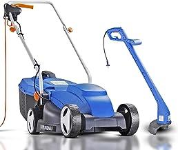 Hyundai Lightweight Electric Lawnmower & Strimmer, 32cm 1000W 3 Year Platinum Warranty, Corded Lawnmower, Grass Cutter, 10...