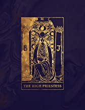 The High Priestess: College Ruled Journal | 8.5 x 11 A4 Notebook | Midnight Marble and Gold Tarot Card - 150 College Ruled Lined Pages (Rainbow ... Gold - College Ruled Composition Notebook)