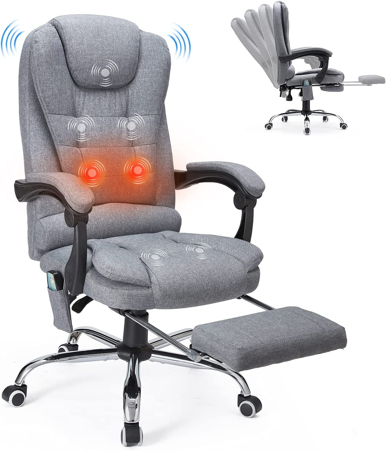 YODOLLA Bombing 55% OFF new work Ergonomic Reclining Office Chair with F Massage and Heat