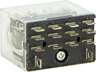 Omron LY4-AC24 General Purpose Relay, Standard Type, Plug-In/Solder Terminal, Standard Bracket Mounting, Single Contact, Quadruple Pole Double Throw Contacts, 93.6 mA at 50 Hz and 80 mA at 60 Hz Rated Load Current, 24 VAC Rated Load Voltage