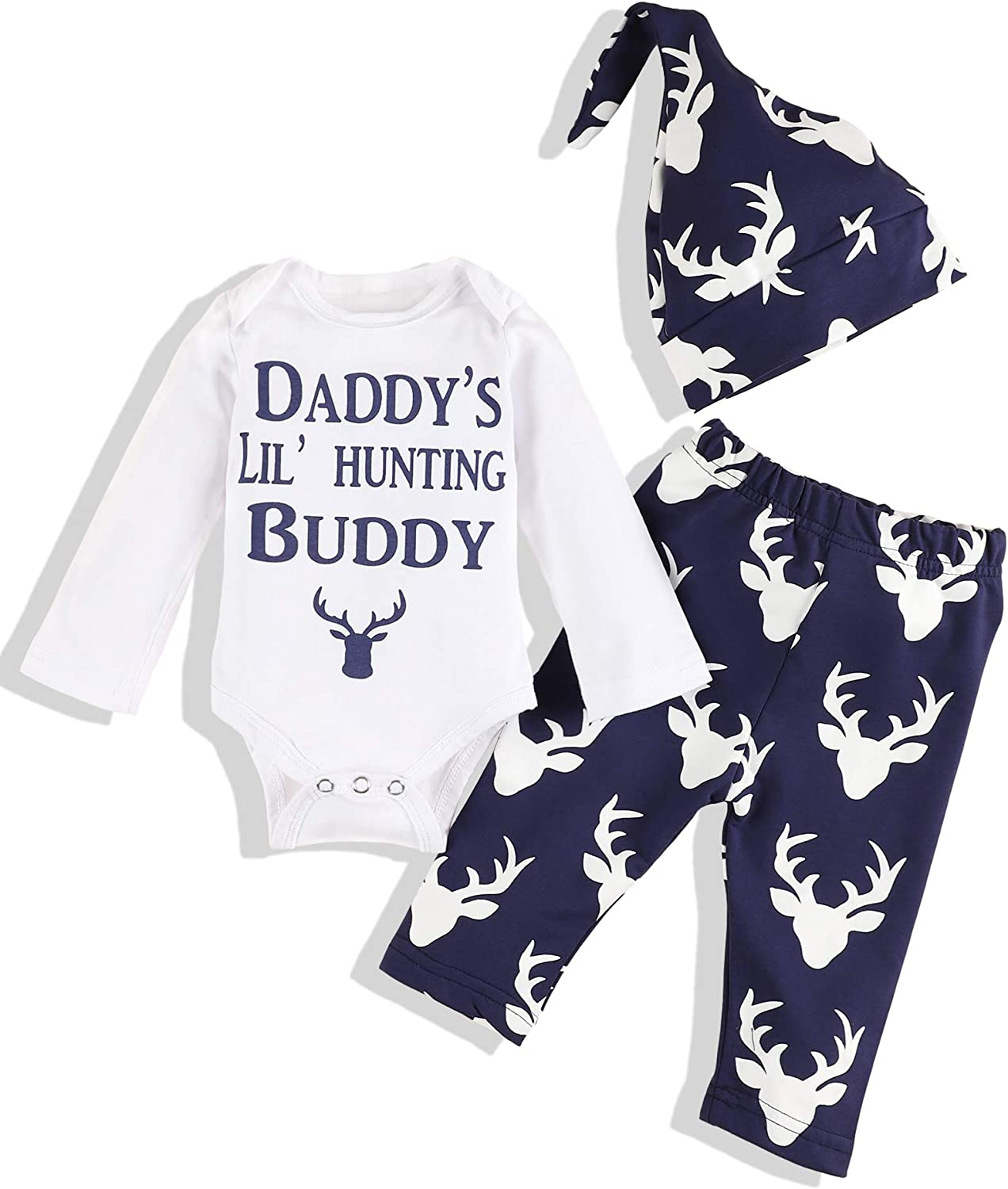 Baby Boy Clothes Mama's Boy Long Sleeve Romper Plaid Pants with Hat Newborn Infant Baby Boys Outfit Set