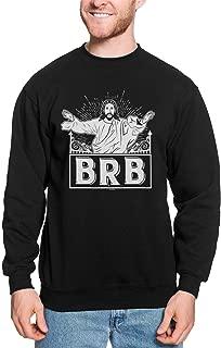 HAASE UNLIMITED BRB - Be Right Back Jesus Has Risen Funny Unisex Crewneck Sweatshirt