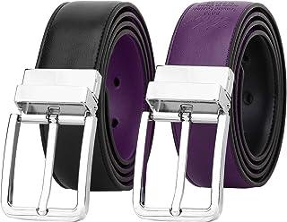 Falari Men's Dress Belt Reversible Genuine Leather Belt Enclosed in Gift Box 9022