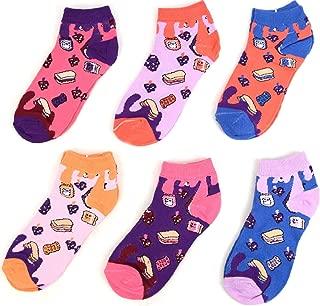 Women's Fun Low Cut Socks ~ Set of 6~Sock Size 9-11/ She Size 4-10~Great Fun Gift!
