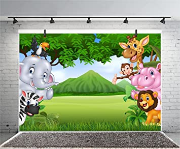 15x10ft Cartoon Lion Backdrop Photography Backdrops Photo Baby Shower Props Room Mural LHFU275