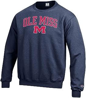 Elite Fan Shop Mississippi Ole Miss Rebels Crewneck Sweatshirt Varsity Navy