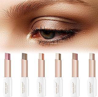 Palito de sombra de 6 cores , Sombra de olhos de duas cores à prova d'água Glitter Shimmer Sombra de olhos gradiente fosco...