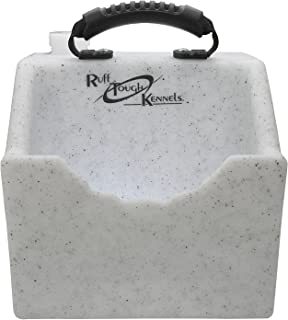 Ruff Tough Kennels Dog Water Dish, Bowl, Easy to use Portable Water Station, Whitestone color, Holds 1 Gallon of water, 10.5