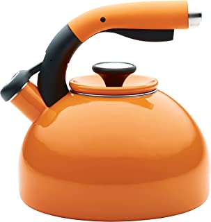 Circulon 2-Quart Morning Bird Teakettle, Mandarin Orange