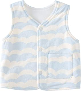 Baby Warm Jacket Cotton Vest Spring and Fall Children Waistcoat 0-3 Years