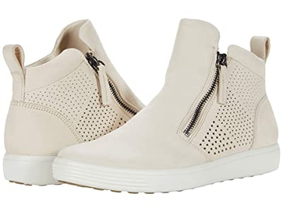 ECCO Soft 7 Perforated Bootie (Limestone) Women