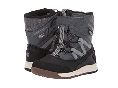 Merrell Kids Snow Crush Jr Waterproof (Toddler) (Grey/Black) Kids Shoes