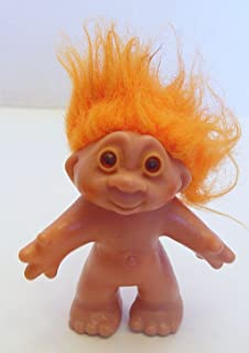 Orange Haired 1986 Dam Troll Doll 5 Inches Tall
