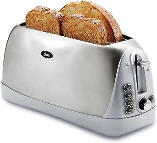 Oster Long Slot 4-Slice Toaster, Stainless Steel (TSSTTR6330-NP)