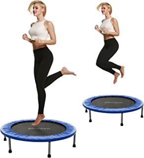 ANCHEER 38-40Inch Foldable Mini Trampoline Rebounder, Quiet and Safe Bounce Spring Mini Bouncer Fitness Trampoline Rebounder for Kids Adults in Home Cardio Trainer