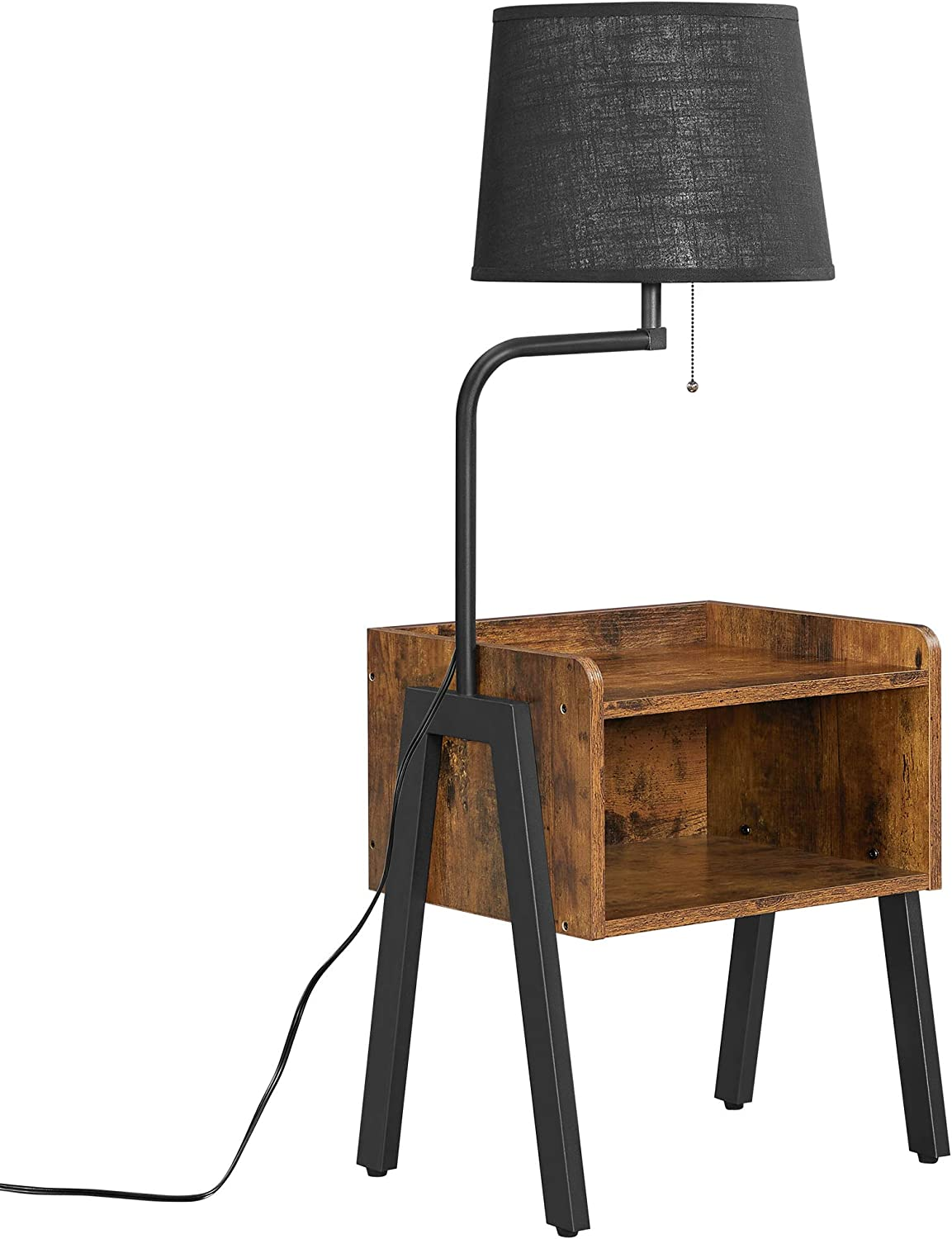 VASAGLE Max 71% OFF Nightstand with Lamp Bedside Sofa Inexpensive Table Side End