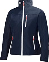 Helly Hansen Women's Crew Midlayer Fleece Lined Waterproof Windproof Breathable Rain Coat Jacket