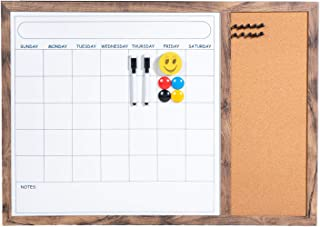 $36 » BuyHive Dry Erase Calendar Bulletin Board Wall Whiteboard Corkboard Planner Entryway Magnetic Monthly Calendar