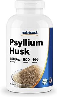 Nutricost Psyllium Husk 500mg, 500 Capsules - 1500mg Per Serving, Non-GMO & Gluten Free