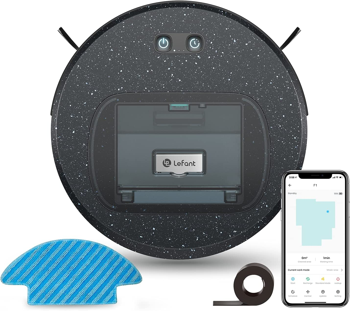 Max 43% OFF Lefant F1 Robot Vacuum Cleaner wit and Large discharge sale Robotic Combo Mop