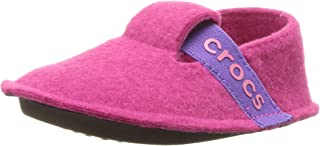 Crocs Kids' Classic Slipper | Comfortable Slip On Toddler Shoe with Soft Liner