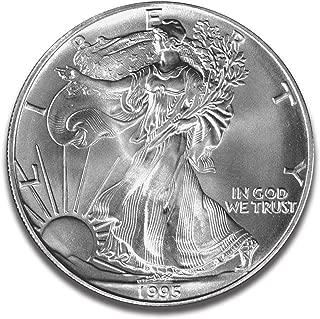 1995 American Eagle One Troy Ounce 99.9% Fine Silver Dollar Bullion