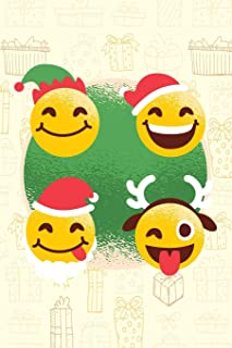 Funny Christmas - Journal Diary Journal Lined about A5 FORMAT - notepad for school and work. Christmas theme, Smiley Face, Feelings, emotions, sweet: ... Christmas or Santa Claus as a sweet gift - n