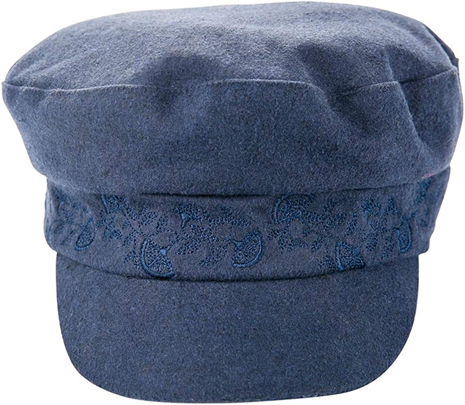 Women's Warm Polyester Fiber Hat Suitable Autumn Winter (color   bluee)