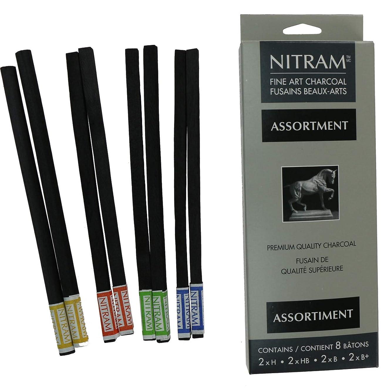 Nitram Assorted refill Charcoal sticks pk 8