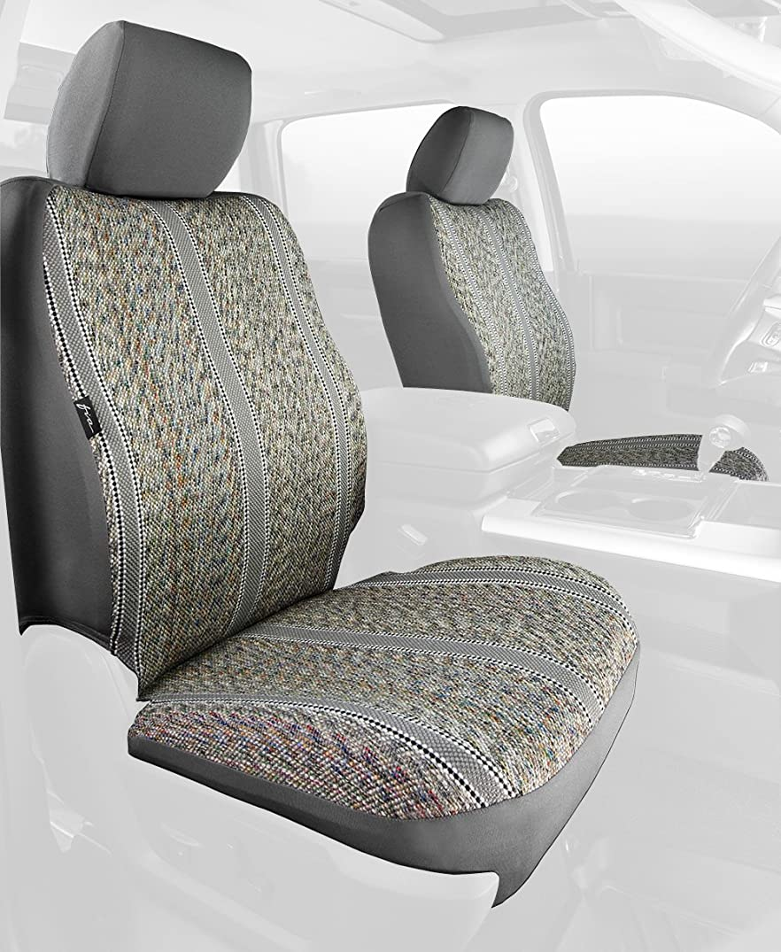 Fia TR48-32 GRAY Custom Fit Front Seat Cover Bucket Seats - Saddle Blanket, (Gray)
