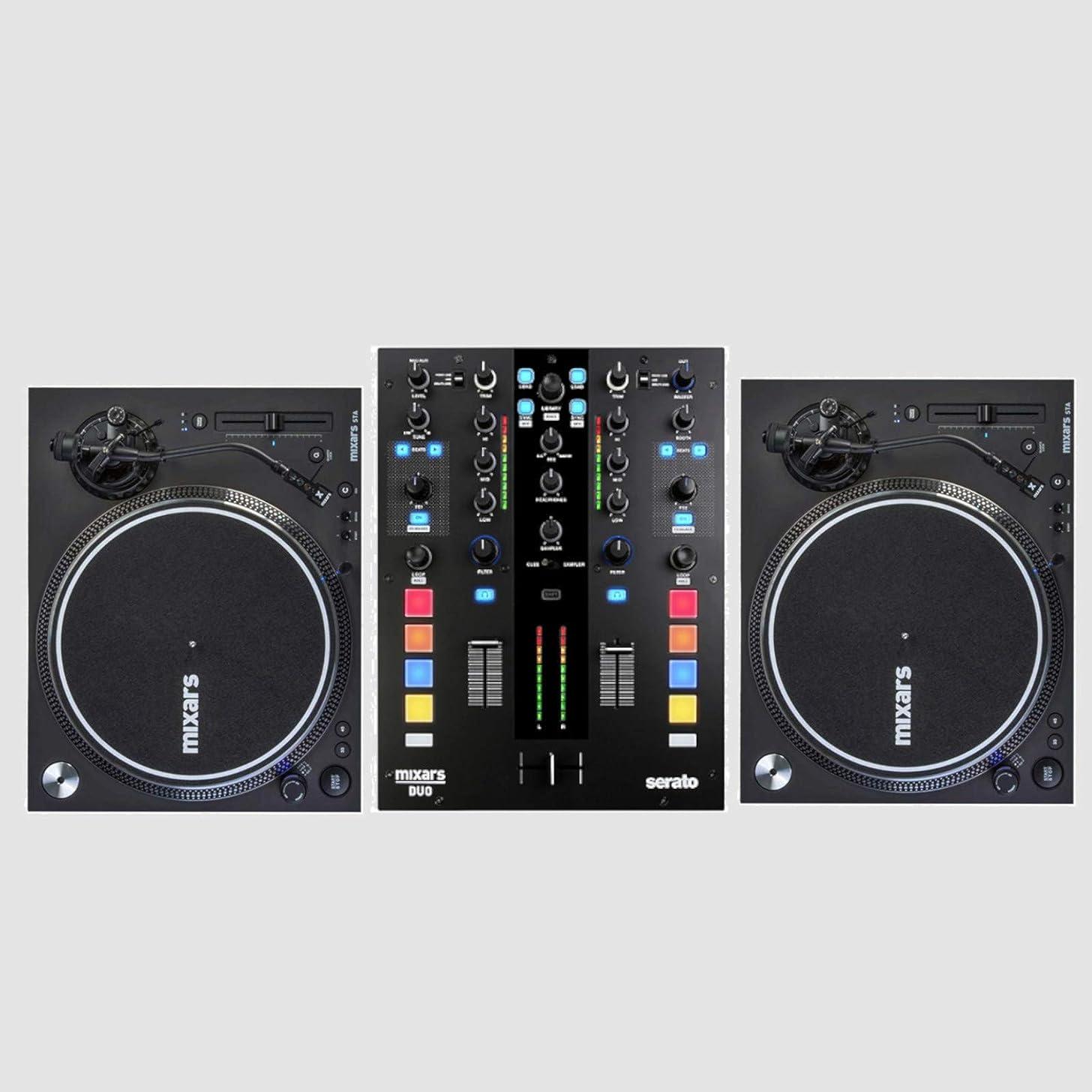 Mixars Bundle w/Mixars Duo MK2 And 2 Mixars STA Turntables