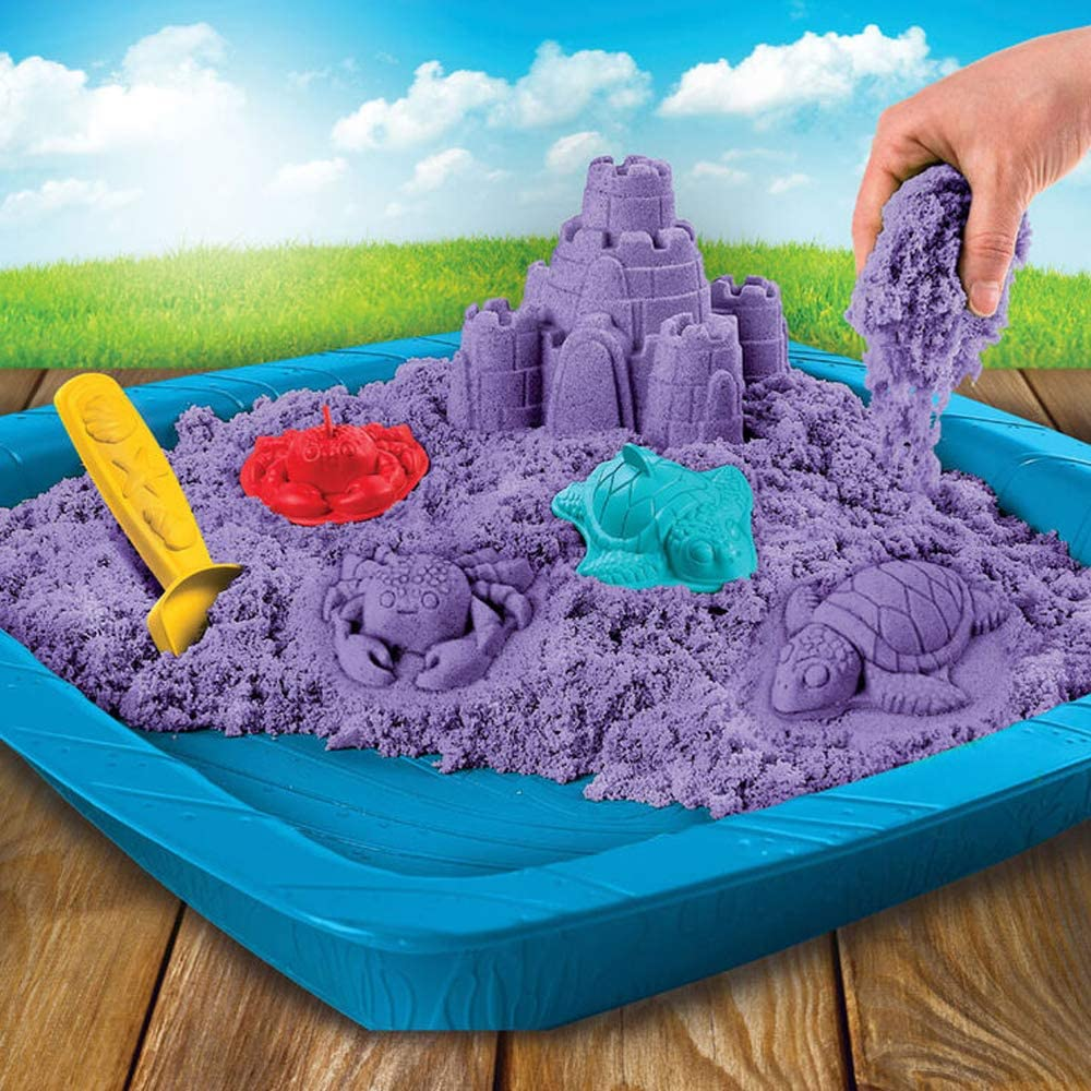 2.75 Ounce Assorted Colors for Kids Magic-Shaping Kinetic Style Sand Party Supply Stress Relief Kicko Colorful Molding Sand Arts and Crafts 12 Pack Learning Kit