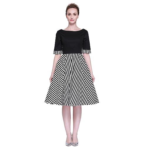 Heroecol Vintage 1950s 50s Dress Style Retro Rockabiily Cocktail