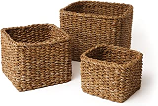 Best square seagrass baskets Reviews