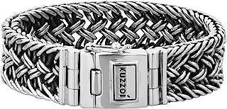 kuzzoi - 335104 - Bracciale da uomo in argento Sterling 925 massiccio, larghezza 20 mm