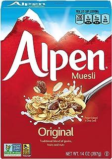 Alpen Original Muesli, Swiss Style Muesli Cereal, Whole Grain, Non-GMO Project Verified, Heart Healthy, Kosher, Vegan, 14 ...