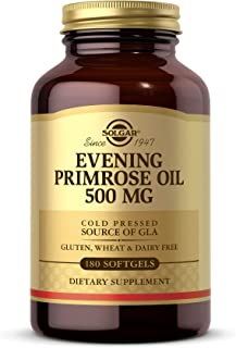 Solgar Evening Primrose Oil 500 mg, 180 Softgels - Promotes Healthy Skin & Cardiovascular Health - Nutritional Support for...