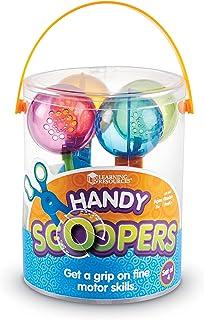 منابع یادگیری دستی اسکوپ دستی ، اسباب بازی زیبا موتور ، رنگ های متنوع ، مجموعه 4 ، سنین 3+