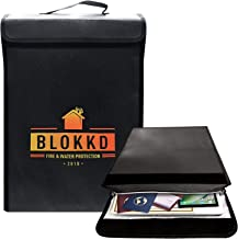 Fireproof Lock Box Bag for Documents - Fire Proof Safe Document Holder Bags - Waterproof Storage Safety for Files, Money, ...
