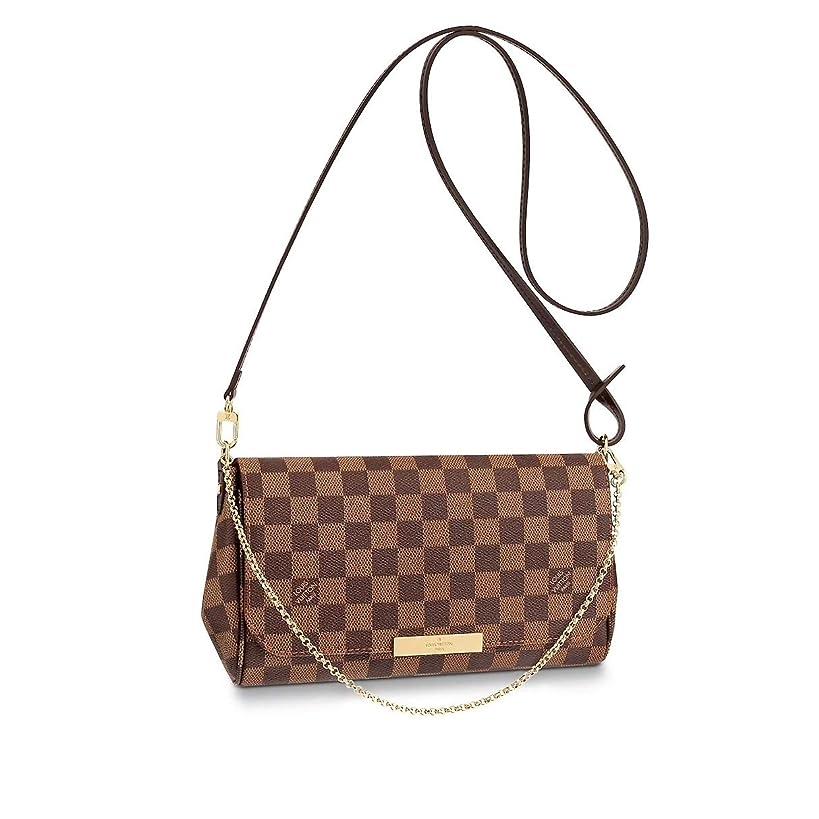 Louis Vuitton Favorite Shoulder Bag (MM, Damier Ebene Canvas)