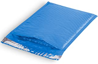 300-6.5x9#0 Fosmon Soft Shell Colored Poly Bubble Mailer Shipping Envelopes (300 Pack) - Blue