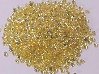 [グランドガレリア] GRAND GALLERIA キュービックジルコニア ルース 裸石 ラウンドカット 1.5mm キャナリー イエロー 黄色