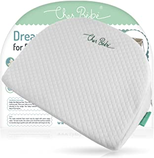 Cher Bébé Wedge Pillow for Halo and Chicco LullaGo Bassinets | High Incline for Reflux and Colic | Cotton and Waterproof Covers | Sleep Positioner for Baby Mattress Pads