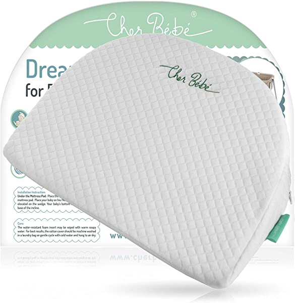 Cher B B Wedge Pillow For Halo And Chicco LullaGo Bassinets High Incline For Reflux And Colic Cotton And Waterproof Covers Sleep Positioner For Baby Mattress Pads