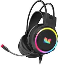 Monster Over-The-Ear Gaming Headeset with Noise Isolation and LED Lighting Effects